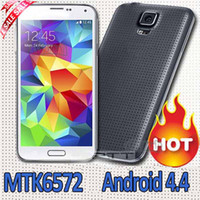 Wholesale cheapest S5 MTK6572 dual core G900H SM G900 inch Android G GSM Quad Band Unlocked I9600 G900f Cell Phone Mobile by Post
