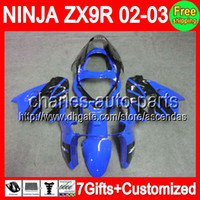 7gifts+ Bodywork For KAWASAKI NINJA ZX9R NEW Blue black 02- 03...