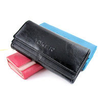 Wholesale Elegant Style Three Colors Option PU Leather Multi function Wallet Envelope Women Handbag