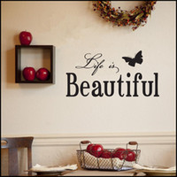 Wholesale Life is Beautiful Quote Wall Decal