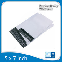 Wholesale 5x7inch White Poly Mailer x17 cm Flat Poly Mailings Shipping quot X7 quot Envelopes Plastic Self Sealing Packaging Bag x
