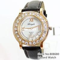 Unisex wach - New Fashion For Men Women Dress Watch Quartz Clock Rhinestone Casual Leather Strap Wach Reloj Rose Gold