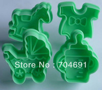 Wholesale New set Cookie Cutter Cookie Stamp Biscuit Plunger Mold Baby Set