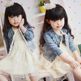 Wholesale Girl s Jeans Coat Lace Edge Cute Jacket Party Birthday Gift