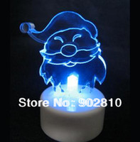 Wholesale listed in stock Christmas gift for Kids12pcs LED Candle Light Snowman Santa Claus Angel Piano Aniamal Color Changing Lamp