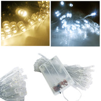 Wholesale 3XAA Battery LED string MINI FAIRY LIGHTS BATTERY power OPERATED White amp Warm White