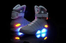 Wholesale LED Light Shoes AIR MAG Marty McFly Sneaker Men Shoes Party Wear Brand New Shoes Charging Shoes Stage Wear for Costume Play New