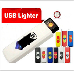 Wholesale Portable USB Rechargeable Windproof Electronic Cigarette Lighter U Disc Design Flameless Lighters Multicolor Best Gift For Friend