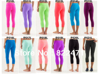 Wholesale New Arrival Lululemon Athletica Yoga Lulu Lemon Women Capris Many Candy Color Wunder Under Crop Retail