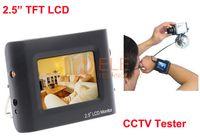 2.5quot; CCTV Prueba de la cámara del monitor probador portátil de seguridad CCTV CCTV LCD Monitor Pruebas de la cámara de vídeo