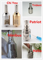 Replaceable Metal metal rebuildable atomizer patriot nimbus helio trident helios chi you rebuildable atomizer rda rba tanks for king nemesis mechanical mods vs kayfun ithaka aqua tanks