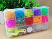 Link, Chain plastic charms - loom kit for Kids DIY bracelets Refill wrist bands Bands hook rainbow loom clip Charms in Clear Plastic Box