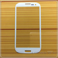 Wholesale New White Replacement Front Outer Lens Glass Screen For Samsung Galaxy S3 SIII I9300 I747 L710 T999 I535 Adhesive