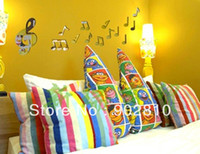 Graphic vinyl art classroom decorations - listed in stock x50cm x20in crystal music note D mirror wall art decoration music classroom decal Decoration