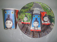 Wholesale thomas paper cup inch paper plate tableware for birthday party cup plate