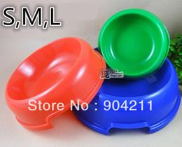 Wholesale Promotion Good quality Plastic single bowl dog round bowl dog bowl pet utensils dog food bowl sizes free gifts