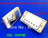 Cheap Free Shipping Electric Guitar Chrome Plated Humbucker pickup for SG LP White