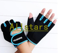 Wholesale New Sport Cycling Fitness Gloves GYM Half Finger Weight lifting Gloves Exercise Training D