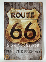 Metal Antique Imitation Europe Route66 feel the freedom paiting Tin Sign Bar pub home House Office garage Wall Decor Retro Metal Art sticker Poster RT001