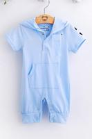 baby boy shortalls - Baby Rompers Shortalls Hooded bodysuit Hot Sale Hoodies Toddler jumpsuits