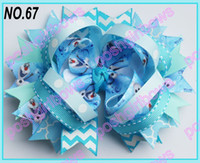 Wholesale big ring hair bows frozen hair bows girl hair accessories popular girl hair clips