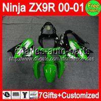 7gifts+ Fairings For KAWASAKI NINJA ZX9R ZX 9R Factory green ...