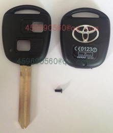 Wholesale TOY43 B Toyota car key blank with TOY43 blade buttons remote key shell