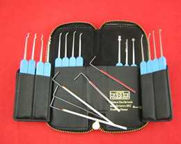 Haoshi 21pcs Stainless steel   Spring steel locksmith bag for lock opener picklock tools lock pick