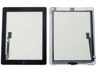 Wholesale For iPad Touch Screen Glass Digitizer With Home Button Assembly amp M Adhesive Sticker Replacement Repair Parts White Black A004