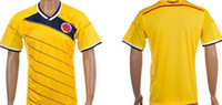 Wholesale NEW World Cup Colombia Team Home amp Away Soccer Jersey Top Thai Quality Customized Soccer Jersey Size S XL