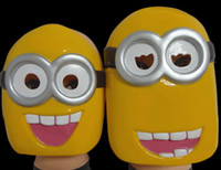 halloween props - Cartoon Despicable Me Minion mask Masquerade Halloween Carnival Event Party Masks Film Cosplay Props Mask for men women child yellow