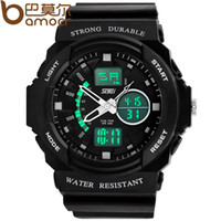 Sport Men's Complete Calendar 2014 New Arrival Watches Black White for Men's Sports Outside Double Show Movement led Digital Clock Free Shipping GA-120-1A