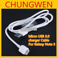 Cheap Wholesale - Charger Cable For Samsung Galaxy Note 3 Micro USB 3.0 Data Sync 1M 3ft Charging White Cords for Galaxy Note3 N9000 N9005 N9006