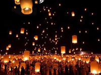 Cheap Chinese Sky Lantern with Fuel Paper Kongming Flying Wishing Lamp For Wedding Party Balloons & Lights (10pcs)