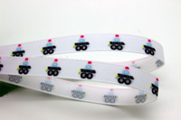 Quilt Accessories Ribbons Yes New 3 8'' Free shipping patrol wagon cartoon printed grosgrain ribbon hairbow diy party decoration wholesale OEM 9mm P1266
