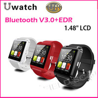 Steel + Silicon Bluetooth V3.0+EDR Yes Bluetooth Smart Watch U Watch U8 WristWatch for iPhone 4 4S 5 5S For Samsung S4 Note 3 HTC Android Cell Phone Smartphone