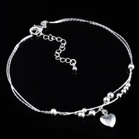 Fashion Silvere Mother's Day 925 Silver Anklets Fashion Jewelry Ankle Bracelets MA002