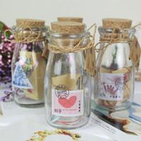 Wholesale Creative zakka grocery Storage Bottles Wishing bottle milk bottle glass crafts Yiwu small mixed batch