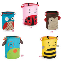 Wholesale Kids Room Cartoon Folding Storage Boxes Baby Cute Animals Dog Owl Monkey Bee Beetle Pouch Environmental Bags