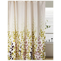 Wholesale Idyllic Flower Vine Shower Curtain Home Bathroom Curtains Waterproof Polyester Fabric Scenery Hooks