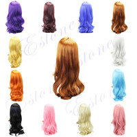 Wholesale 2014 new Arrival Sexy Fashion Heat Resistant Spiral Curly Cosplay Long Hair Full Wigs