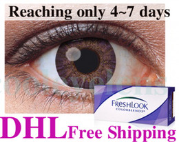 Wholesale DHL faster reached only days pairs Freshlook Contact lenses lens Color Contact Tones free get