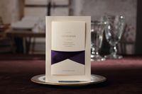 Wholesale 50pcs Purple Riband Printable amp Customizable Wedding Invitation Cards