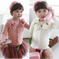 Wholesale 2014 spring autumn korean casual children kid girl Button cardigan long sleeved T shirts coat jacket