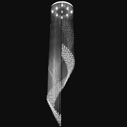 Rotary ladder lamp crystal chandelier k9 sitting room crystal lamp