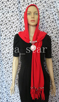 Wholesale 2014 Newest polar fleece pendant hat scarf Hijab designer savres Headscarf