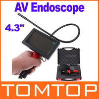 Wholesale Freeshipping AV Endoscope Waterproof Inspection Camera Borescope with quot LCD Moniter Dropshipping