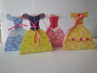 Favor Boxes Red Paper 40 piece Princess Wedding Dress Favor Treat Boxes Fairies Dress Gown Favor Boxes