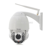 Wholesale Freeshipping M IR Day And Night Vision xOptical Zoom Megapixel Outdoor HD Waterproof H PTZ Wifi IP Camera