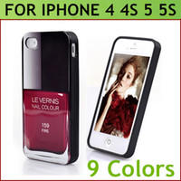 TPU apple nail designs - Fashion Nail Color Polish Trend Design Case for iPhone S S